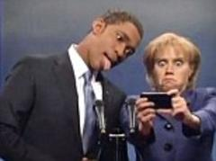 SNL lampoons 'schizophrenic, fake' sign language translator and Obama's 'selfiegate' gaffe from Nelson Mandela's memorial service